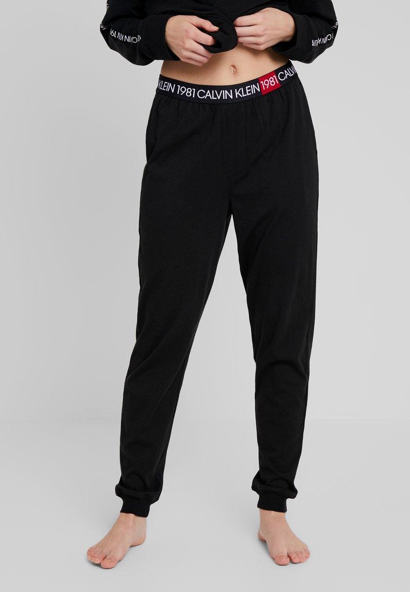 Calvin Klein Underwear - 1981 BOLD LOUNGE JOGGER - Pyjamabroek - black