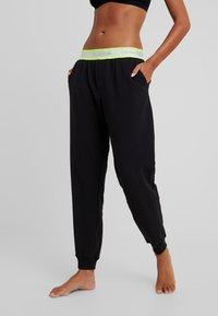 Calvin Klein Underwear - NEON LOUNGE - Pyjamasbukse - black - 0