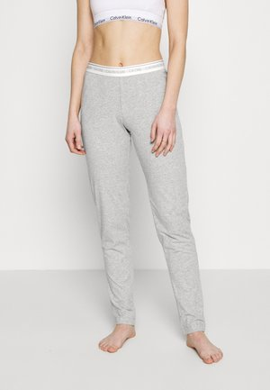 CK ONE LOUNGE JERSEY SLEEP PANT - Pyjamasbukse - grey heather
