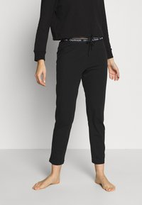 Calvin Klein Underwear - CK ONE LOUNGE JERSEY SLEEP PANT - Pyjamasbukse - black - 0