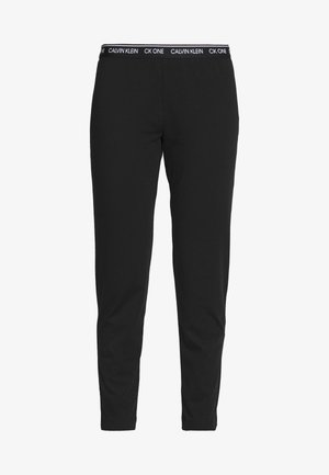 CK ONE LOUNGE JERSEY SLEEP PANT - Pyjamasbukse - black