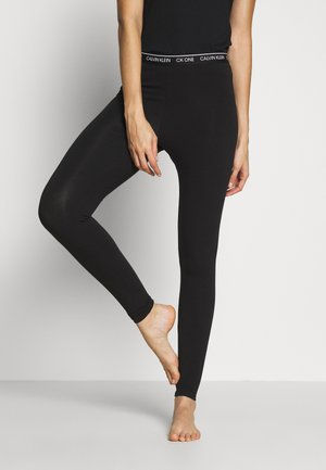 CK ONE LOUNGE JERSEY LEGGING - Pyjama bottoms - black