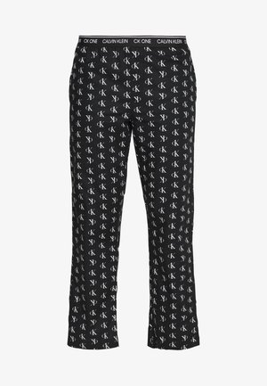 CK ONE WOVENS COTTON SLEEP PANT - Pyjamasbukse - black