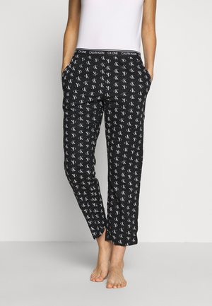 CK ONE WOVENS COTTON SLEEP PANT - Pyjamabroek - black