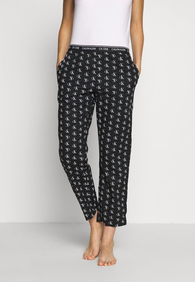 Calvin Klein Underwear - CK ONE WOVENS COTTON SLEEP PANT - Pyjamabroek - black