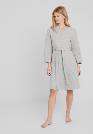 QUILTED ROBE ROBE - Morgonrock - grey heather