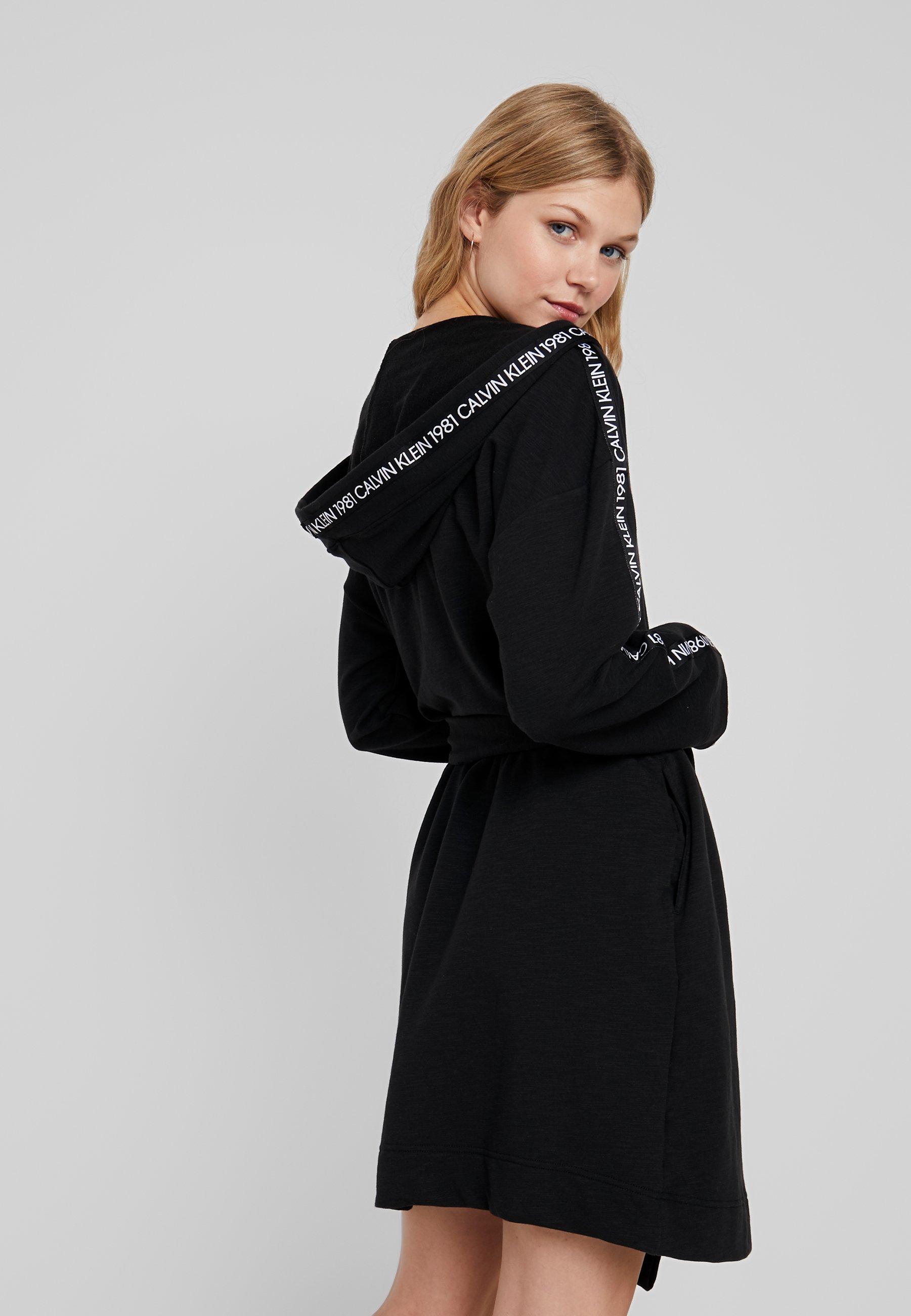 Bold Calvin Klein RobePeignoir Black Underwear Lounge jqzpLVGMUS