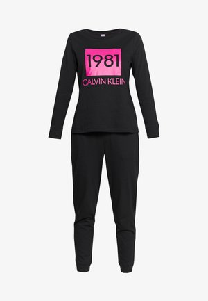BOLD LOUNGE PANT SET - Pyjamas - black
