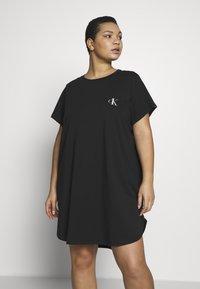 Calvin Klein Underwear - ONE LOUNGE NIGHTSHIRT - Nightie - black - 0