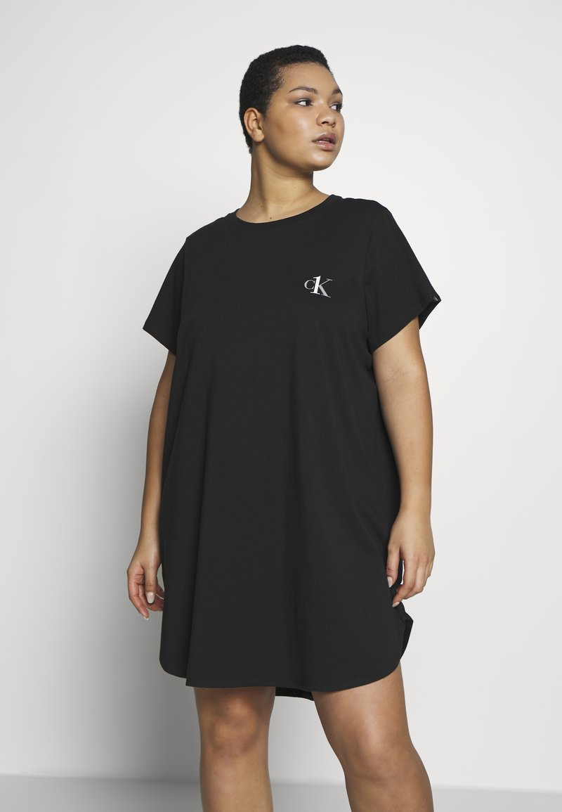 Calvin Klein Underwear - ONE LOUNGE NIGHTSHIRT - Nightie - black