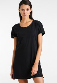 Calvin Klein Underwear - NIGHTSHIRT - Nattskjorte - black - 0