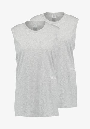 STATEMENT 1981 MUSCLE TANK 2 PACK - Haut de pyjama - grey heather