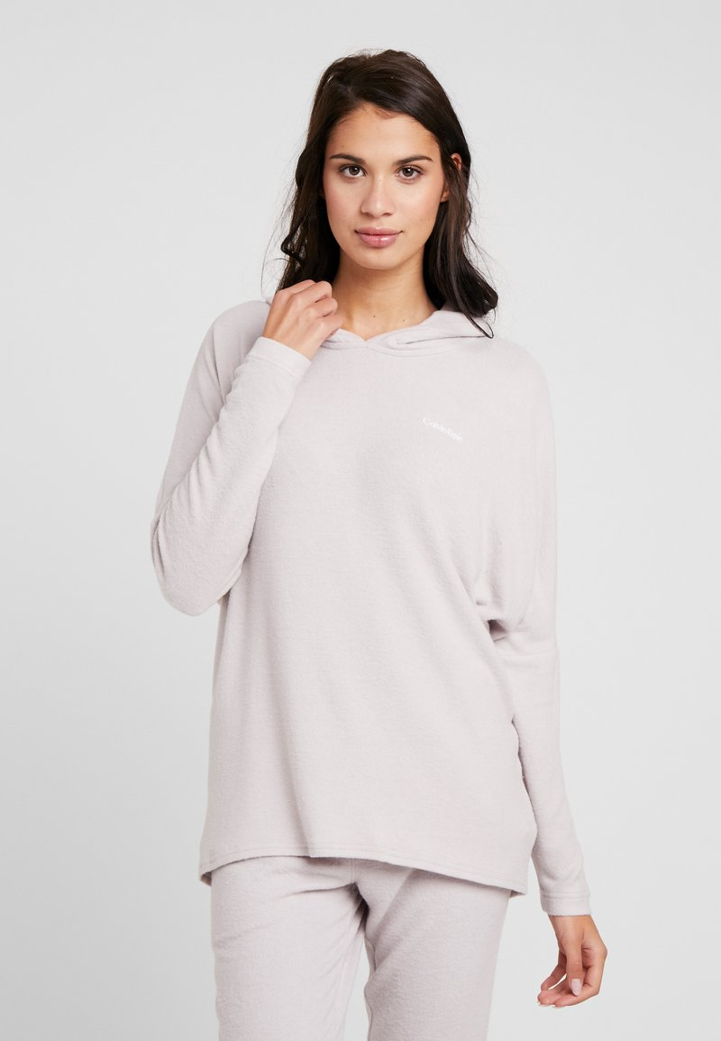 Calvin Klein Underwear - TEXTURED HOODIE - Pyjamasoverdel - gray lavendar hecci