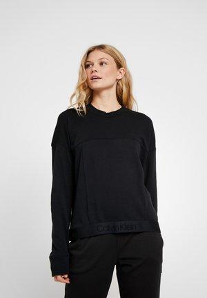 TONAL LOGO LOUNGE - Pyjama top - black