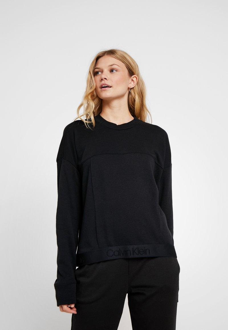 Calvin Klein Underwear - TONAL LOGO LOUNGE - Pyjama top - black