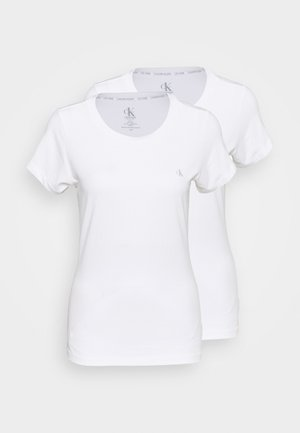 CK ONE CREW NECK 2 PACK - Pyjamashirt - white