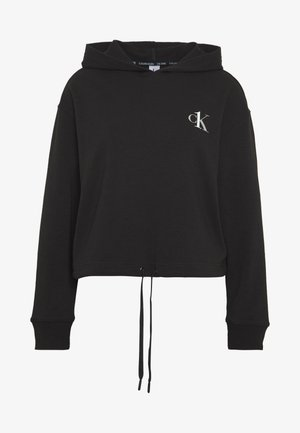 CK ONE LOUNGE FT L/S HOODIE - Pyjama top - black