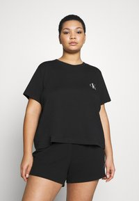 Calvin Klein Underwear - ONE LOUNGE PLUS - Pyjama top - black - 0