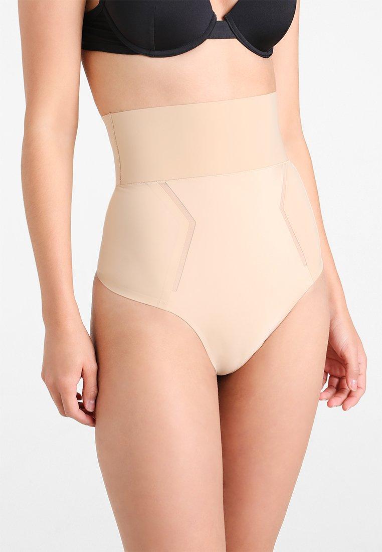 Calvin Klein Underwear - THONG HIGH WAIST - Shapewear - beige