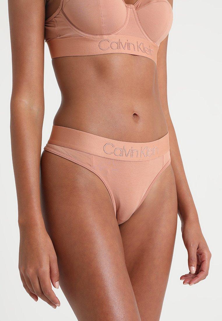 Calvin Klein Underwear - THONG - Thong - beige