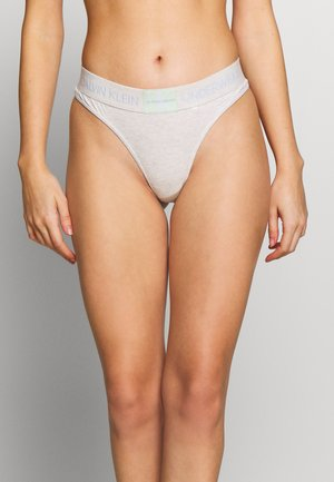 MONOGRAM THONG - String - snow heather