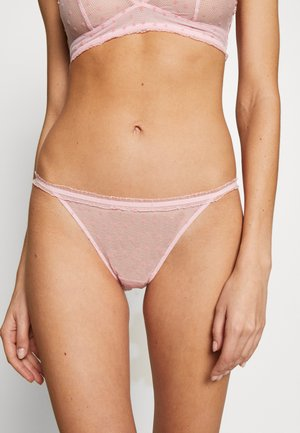 FLOCKED HEARTS STRING - Briefs - prairie pink