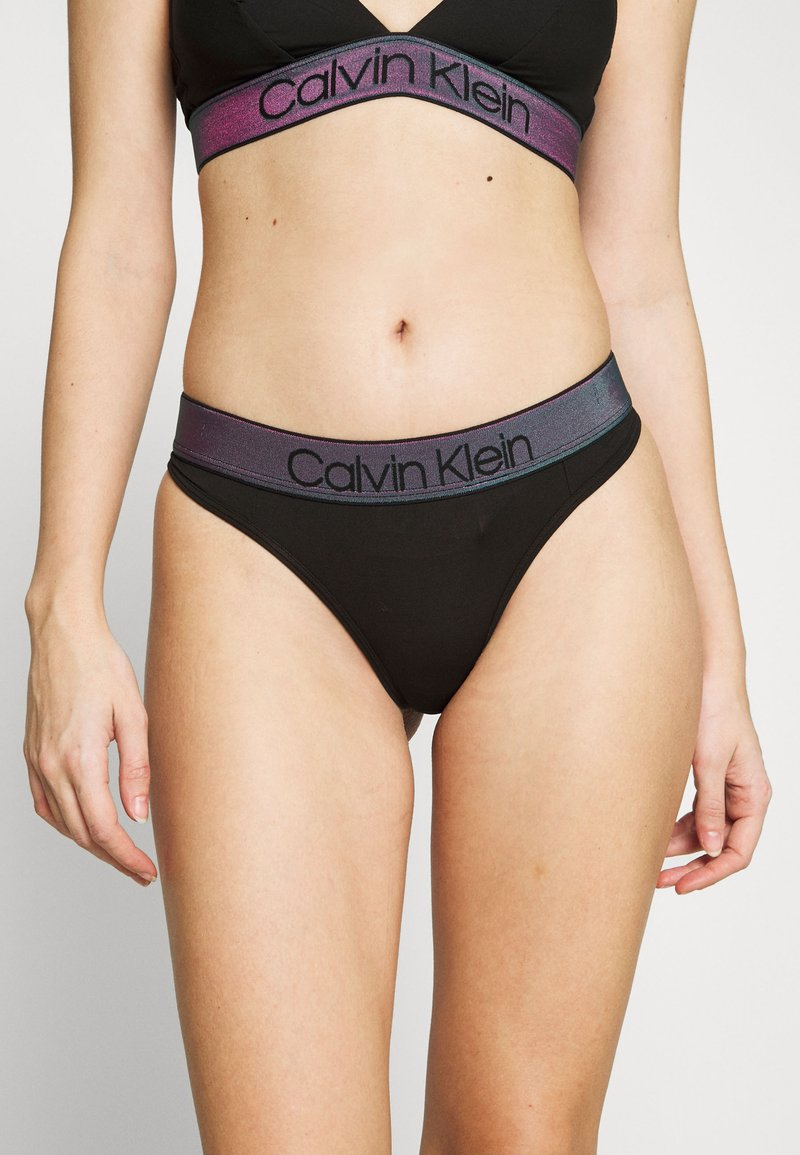 Calvin Klein Underwear - TONAL LOGO THONG - String - black