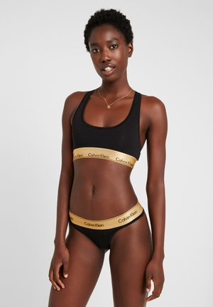 MODERN BRALETTE SET - Undertøjssæt - black/gold ground