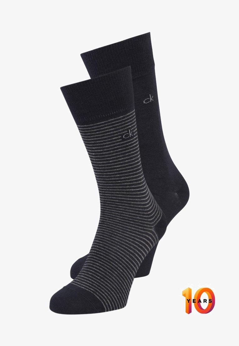 Calvin Klein Underwear - STANLEY FINE STRIPE 2 PACK - Socken - navy