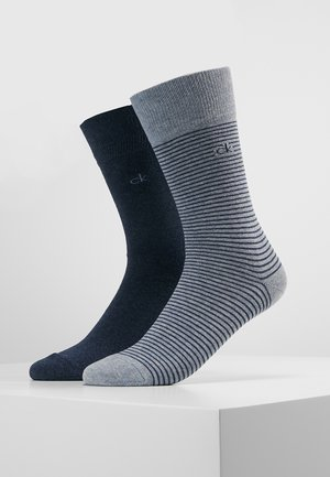 STANLEY FINE STRIPE 2 PACK - Chaussettes - light blue/dark blue
