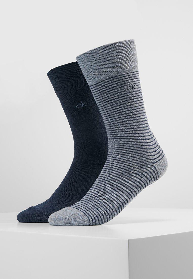 Calvin Klein Underwear - STANLEY FINE STRIPE 2 PACK - Socken - light blue/dark blue