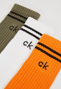 Calvin Klein Underwear - SPORT MULTI 3 PACK - Sukat - orange tiger/white/dark olive