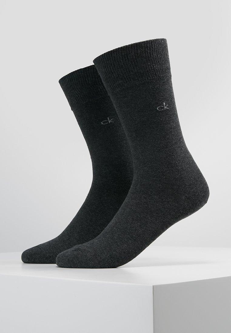 Calvin Klein Underwear - CASUAL FLAT 2 PACK - Strømper - graphite heather