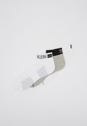 QUARTER 3 PACK - Socks - white/grey