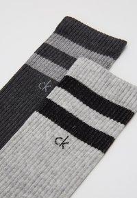 Calvin Klein Underwear - STRIPES CASUAL CREW 2 PACK - Socks - grey - 2
