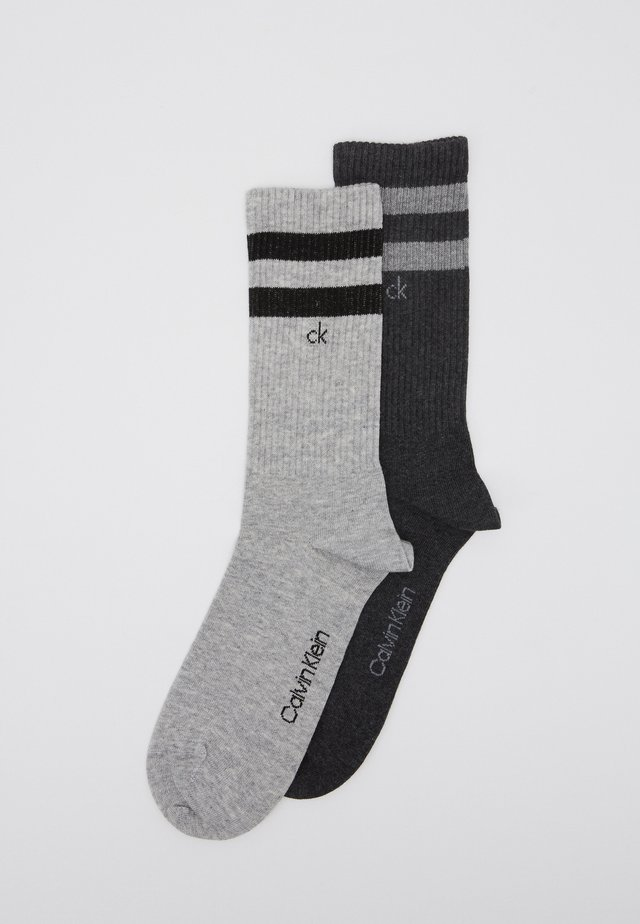 STRIPES CASUAL CREW 2 PACK - Socks - grey