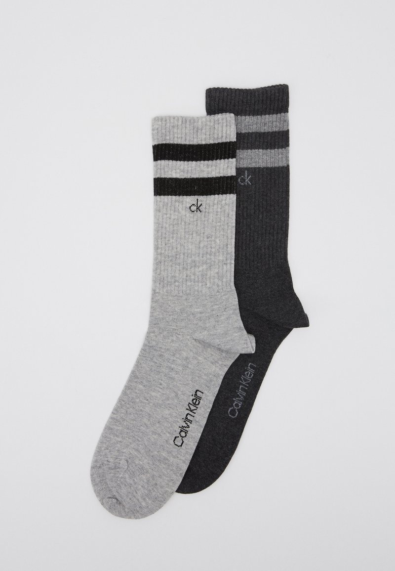 Calvin Klein Underwear - STRIPES CASUAL CREW 2 PACK - Socks - grey