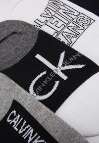 Calvin Klein Underwear - SNEAKER LINER GIFT BOX 4 PACK - Calze - grey/white/black - 2