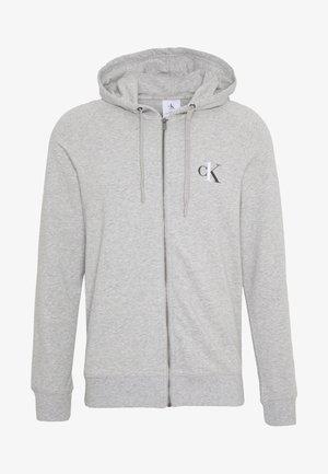 CK ONE FULL ZIP HOODIE  - Pyjamashirt - grey