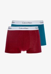 Calvin Klein Underwear - TRUNK 2 PACK - Culotte - dark green/dark red - 3