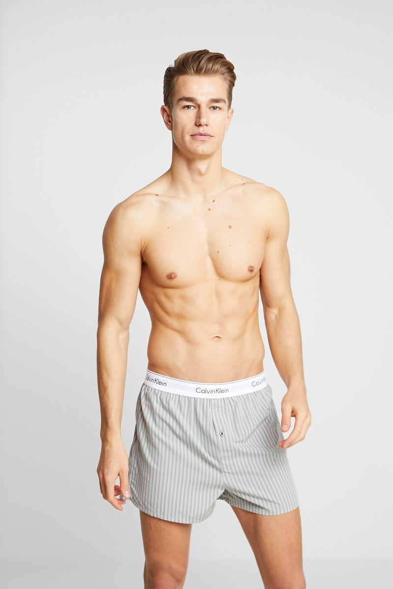 Calvin Klein Underwear - SLIM FIT 2 PACK - Bokserki - grey