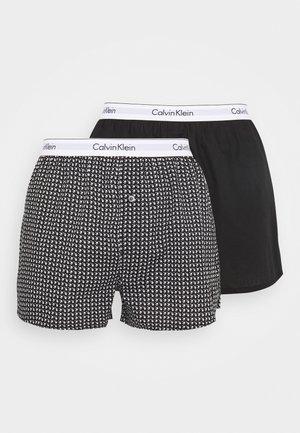 SLIM FIT 2 PACK - Boxer shorts - black