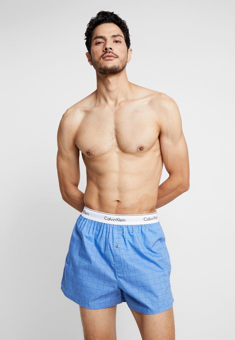 Calvin Klein Underwear - SLIM FIT 2 PACK - Bokserki - blue