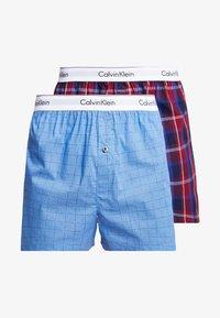 Calvin Klein Underwear - SLIM FIT 2 PACK - Bokserki - blue - 3
