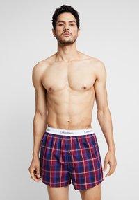 Calvin Klein Underwear - SLIM FIT 2 PACK - Bokserki - blue - 1