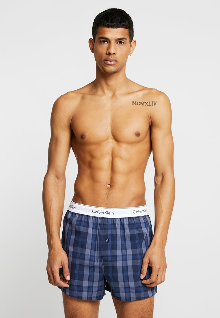 Calvin Klein Underwear - SLIM FIT 2 PACK - Boxer shorts - blue