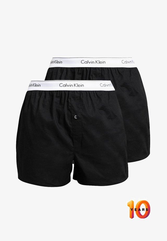 SLIM FIT 2 PACK - Boxershort - black
