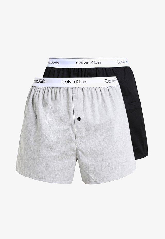 SLIM FIT 2 PACK - Boxershort - black/grey