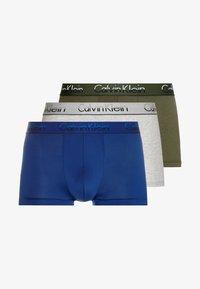 Calvin Klein Underwear - 3 PACK TRUNK  - Bokserit - olive/mottled light grey/dark blue - 3