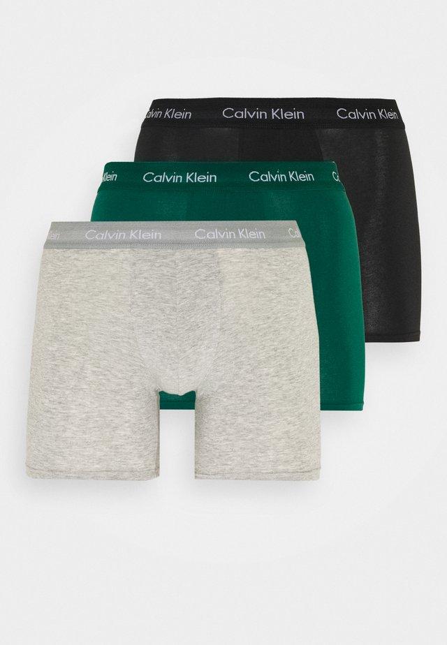 3 PACK - Panties - black/mottled grey/dark green
